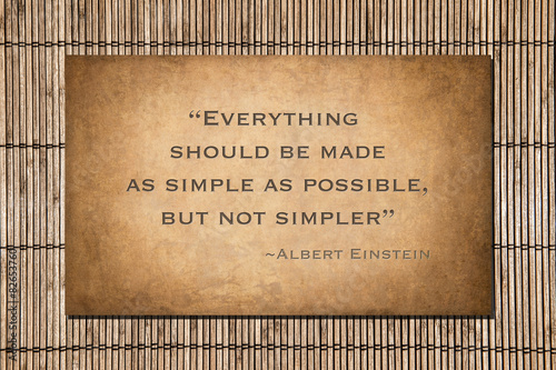 Poster As simple as possible, but not simpler. Albert Einstein's quote.