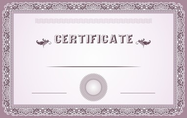 Ornamental certificate border and template