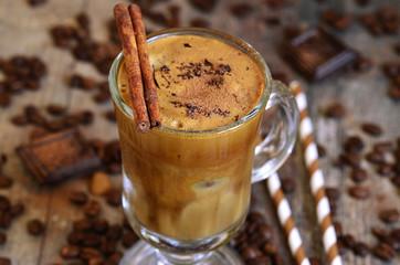 Coffee frappe - traditional recipe of grreek cuisine.