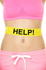Stomach help - woman with body weight problems