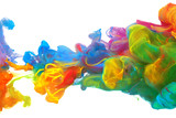 Fototapety Clouds of bright colorful ink mixing in water