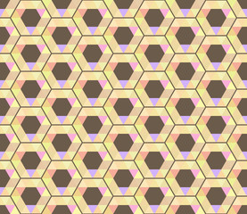 Abstract pattern of hexagons and triangles