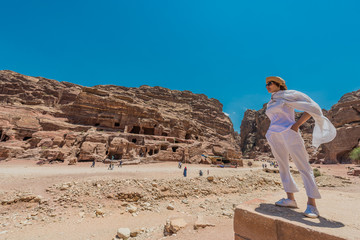 in Nabatean city of  Petra Jordan