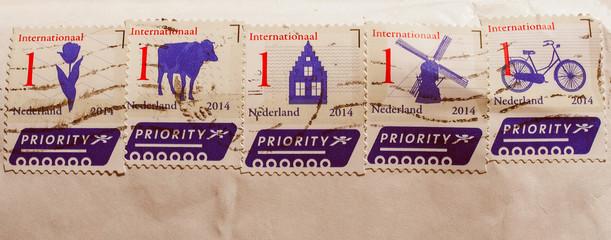 Retro look Mail stamp