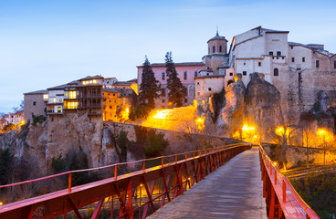 Early morning view of Hanging Houses  in Cuenca