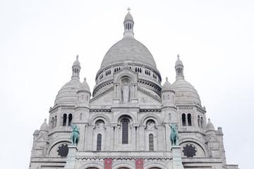 Basilica Sacre Coeur in White background