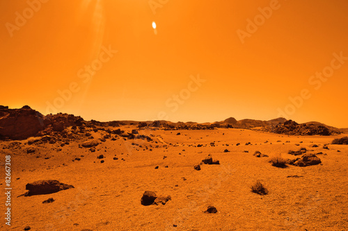 Deserted terrestrial planet