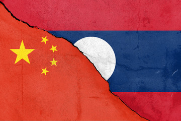 Riss zwischen Laos und China (Laosand China divided)