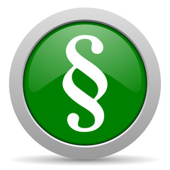 paragraph green glossy web icon