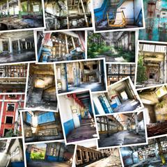 fabbrica abbandonata collage