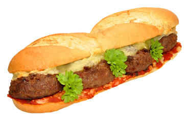 Beef Burger And Cheese sandwich