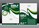 Fototapety golf tournament flyer design brochure & magazine