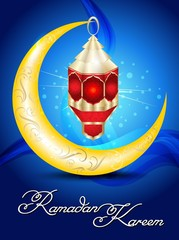 Ramadan artistic lamp vector illustration