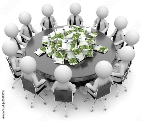 weisse 3d Männchen Anleger Investoren