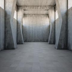 Concrete corridor © FreshPaint