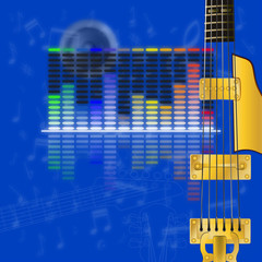 musical design, equalizer and guitar strings