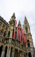 verticall city hall in Vienna Austria