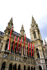 tall city hall in Vienna Austria