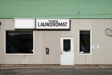 Laundromat Old, Run-Down Exterior