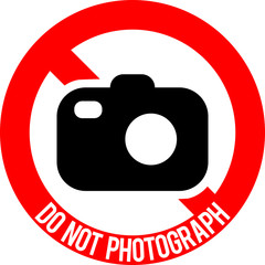 Do not photograph sign, vector illustration