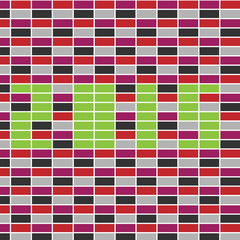 Multicolored rectangle abstract vector pattern with 2015 text
