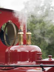 Steam whistle off narrow gauge steam engine