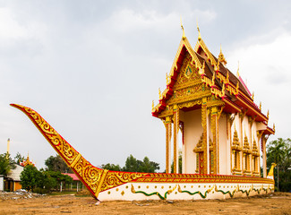 Suphannahong buddhist church in Wat BanWangYaw, Mahasarakham, Th