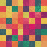 Fototapety Retro squary colorful vintage vector background