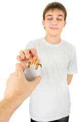 Teenager take a Cigarette
