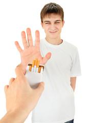 Teenager refuse a Cigarette