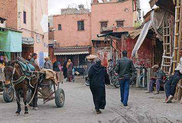 Straßenszene in Marokko - street scene in Morocco