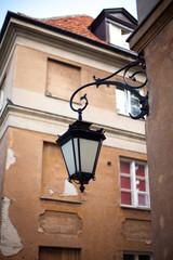 Old lantern in Warsaw, Poland