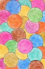 Abstract crayon background. Decoration design element. Hand draw