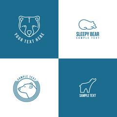 Line Art Badge or Logo Template. Thin Line Design