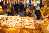 Christmas market with sweets