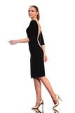 elegant business woman walking