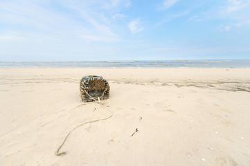 Lobster trap at North sea coast