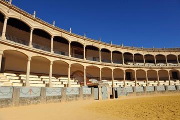 Bullring in Ronda, Malaga province, Andalusia, Spain