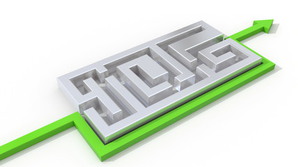 3d maze solution