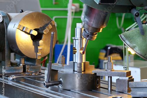 Close Up of Drilling Machine