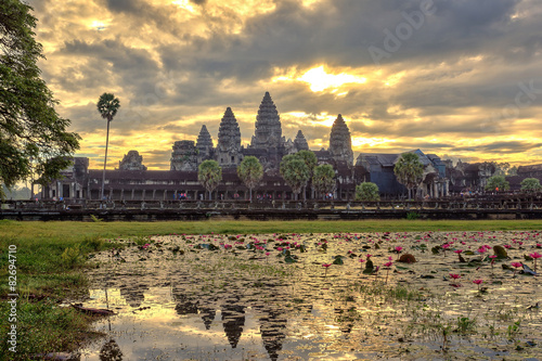 Poster Sunrise at Angkor Wat Temple, Siem Reap, Cambodia