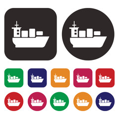 Ship and boat icon