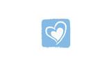 Coeur abstrait bleu