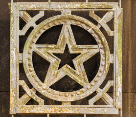 Wrought Iron Russian Star Decoration