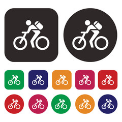 bicycle icon / cyclist