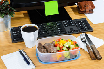 eating at workplace