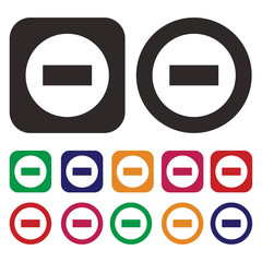 prohibiting sign icon