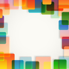 Abstract vector background of different color squares. Design co