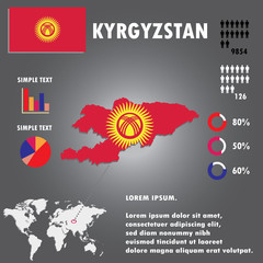 kyrgyzstan Country Infographics Template
