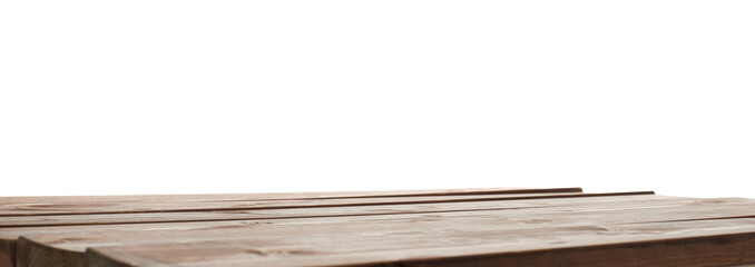 Dark brown paint coated wooden boards